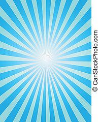 blue háttér, sunray