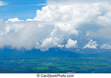 blue hegy, ég