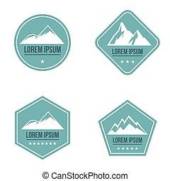 blue hegy, white háttér, jel