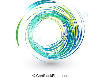 blue láng, fényes, jel, lenget