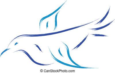 blue madár