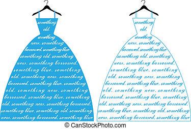 blue ruha, vektor, esküvő