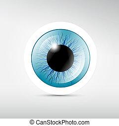 blue szem, vektor, elvont