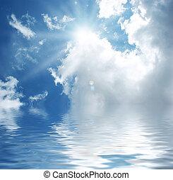 blue víz, ég