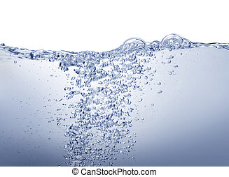 blue víz, fehér, kitakarít