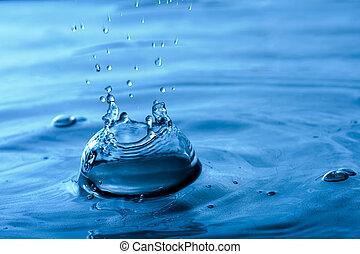 blue víz, loccsanás
