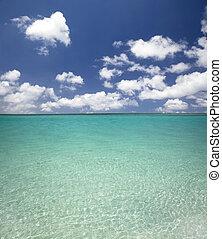blue víz, tengerpart, felhő, kitakarít