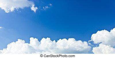 blue white ég, clouds.