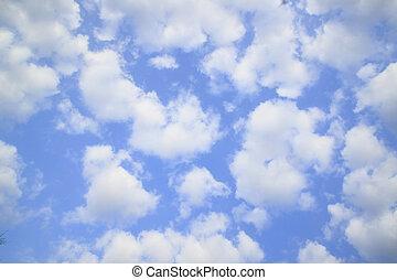 blue white ég, felhő, ellen