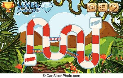 boardgame, háttér, erdő, sablon