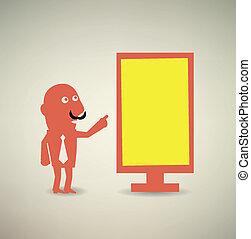 boards., kiállítás, bizottság, tiszta, üzletember, üres