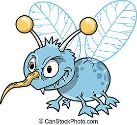 bogár, szándékozik, csúnya, rovar, vektor
