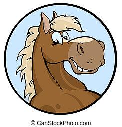 boldog, ábra, ló