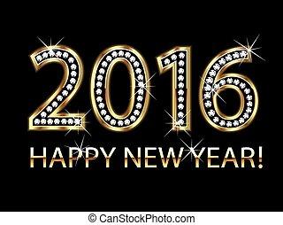 boldog, év, új, 2016