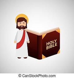 boldog, biblia, tervezés, krisztus, jézus