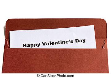 boldog, boríték, nap, valentine's
