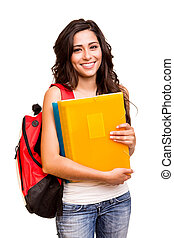 boldog, diák, fiatal