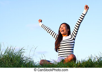 boldog, diák, kívül