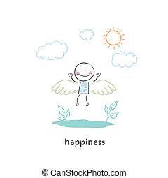 boldog, emberek
