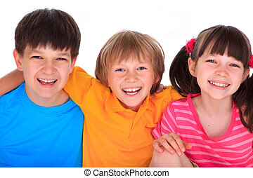 boldog, gyerekek