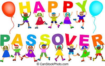 boldog, gyerekek, zsidó húsvét, szöveg, különböző