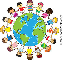 boldog, gyermekek hatalom kezezés