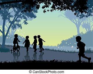 boldog, gyermekkor, idő