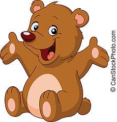 boldog, hord, teddy-mackó