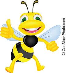 boldog, lapozgat feláll, méh