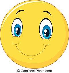 boldog, mosoly, arc, emoticon