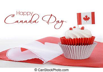 boldog, nap, kanada, cupcake