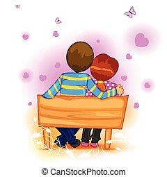 boldog, nap, valentine's