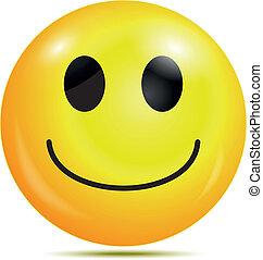 boldog, smiley, emoticon