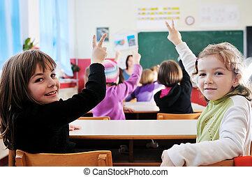 boldog, tanár, izbogis, osztályterem
