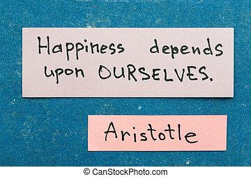 boldogság, depends