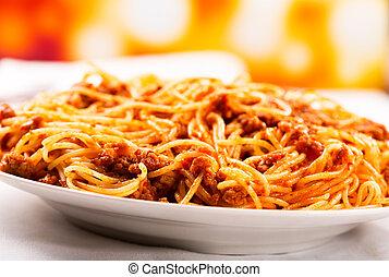 bolognese, spagetti