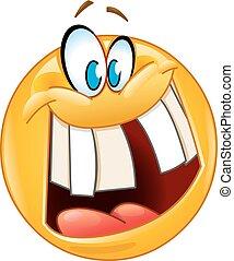 bolond, mosoly, emoticon