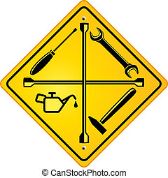 bolt, autó megjavítás, aláír