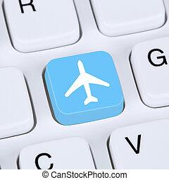 bolt, fogalom, utazás, internet, ünnepek, e-commerce, menekül, online, beír