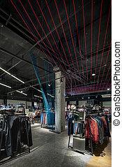bolt, különböző, kiválasztás, cipők, modern, nagy, hord, öltözék