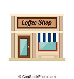 bolt, kevés, kávécserje, bolt
