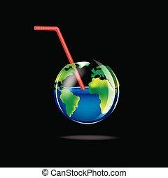 bolygó, ábra, háttér, finom, pohár, vektor, fekete, fogalom, elszigetelt, derékszögben