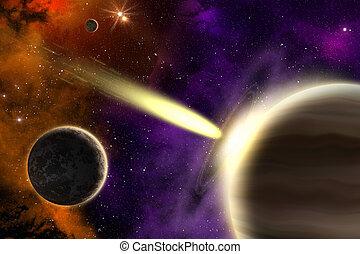 bolygó, üstökös, óriási, gáz