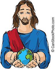 bolygó, earts, jézus, hatalom kezezés
