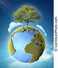 bolygó földdel feltölt, fa