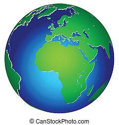 bolygó földdel feltölt, globális, ikon, világ