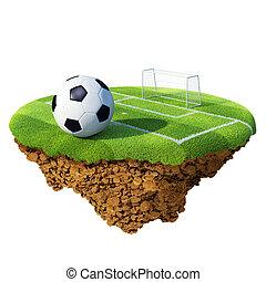 bolygó, kevés, fogalom, alapozott, gól, terület, sziget, planet., bajnokság, /, büntetés, collection., labda, apró, mező, befog, futball, szövetkezik, design.