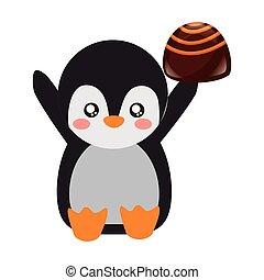 bonbon, csinos, pingvin, kellemes, csokoládé