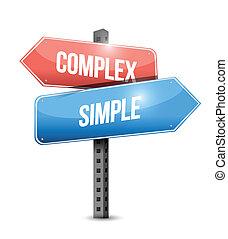 bonyolult, egyszerű, tervezés, ábra, aláír