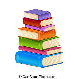 books., kazal, színes